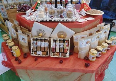 Moroccan spices stand